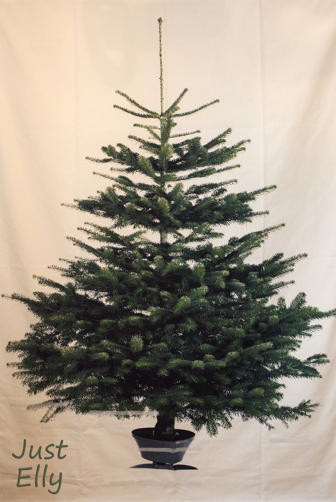 How To Make The Ikea Christmas Tree Fabric Into A 3d Wall Hanging