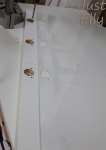 Acrylic glass template for Ikea Pax doors