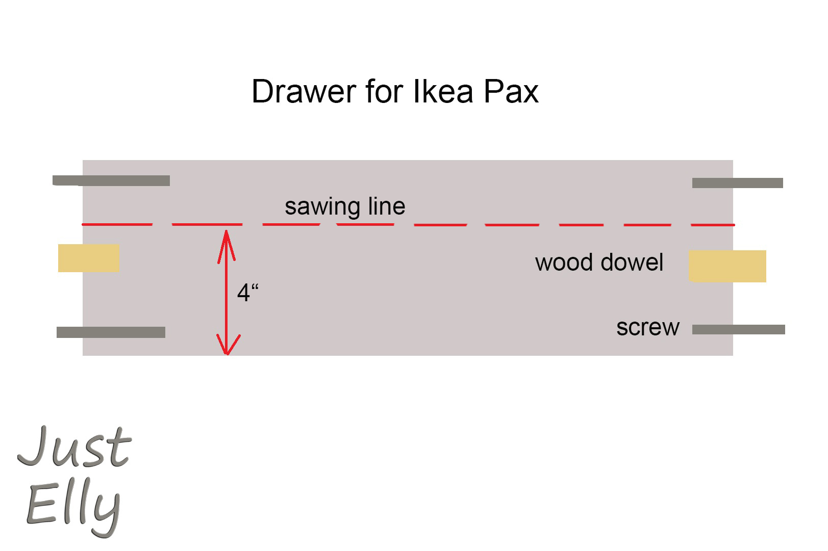 DIY Ikea Pax as cabinet with 2 extra doors (roof sloping