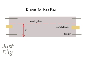Drawer Ikea Pax