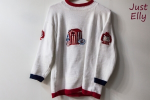 Knitted and embroidered sweater 01