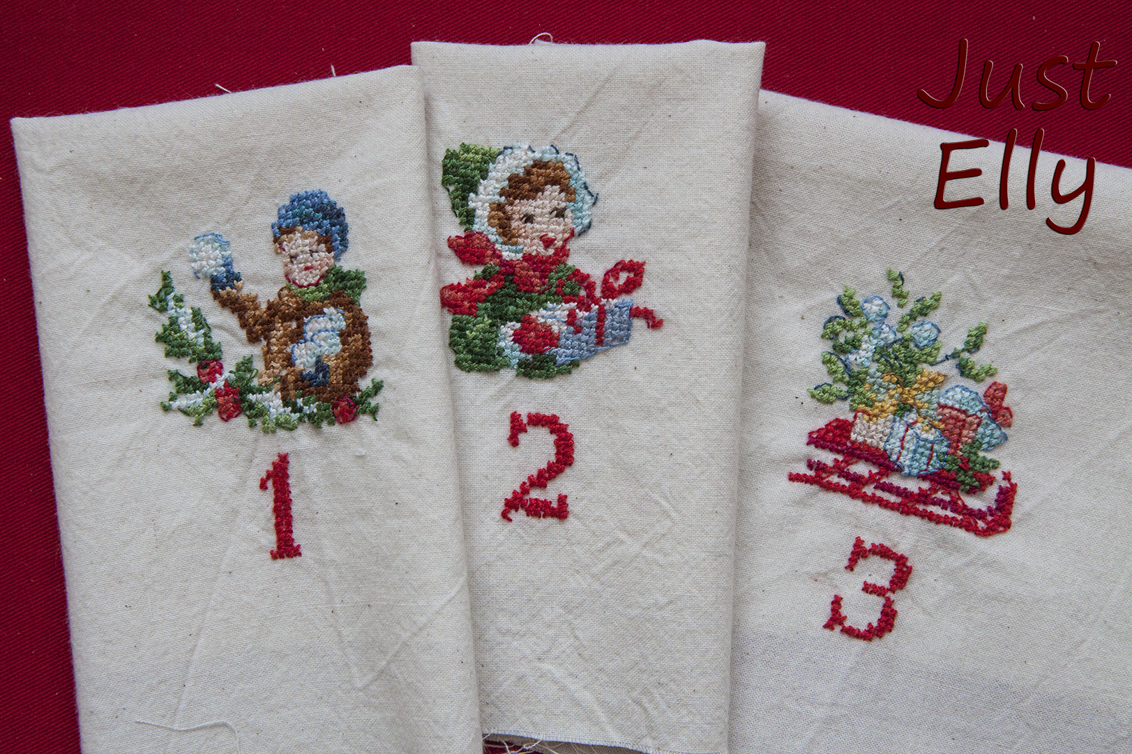 Cross stitching Dec 1-3